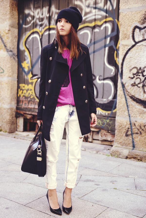 lovely pepa t-shirt coat jeans shoes bag hat jewels