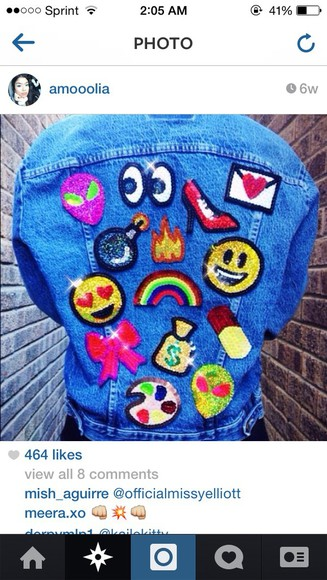 jewels rainbow fire emoji print patches aliens eyes print love envelope bomb high heels money pills bows art
