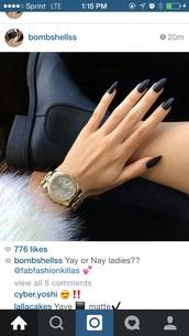 nail polish,black,nails