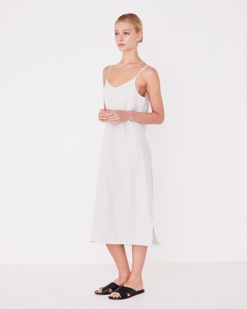 Linen Slip Dress Pumice