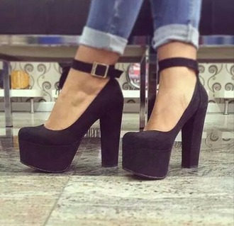 shoes black shoes high heels platform shoes platform high heels