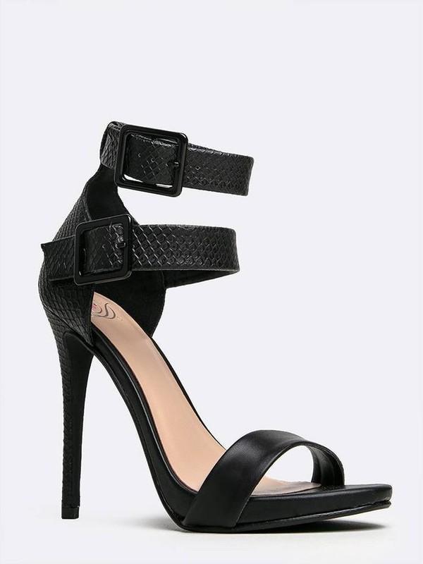 Double Ankle Strap Heels  Tsaa Heel
