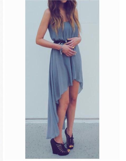 dress maxi dress highlow dresses grey dress summer
