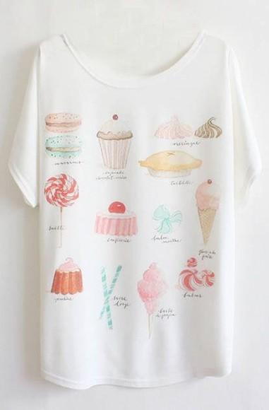 food cute t-shirt shirt