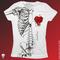 Iron fist wishbone ii girly shirt -white- -- comet coma mailorder