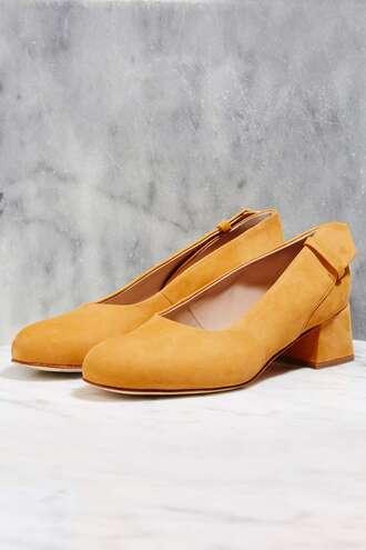 shoes mustard yellow ballet flats