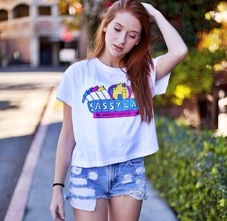 shirt shorts disney disneyland cartoon sassy land sassy