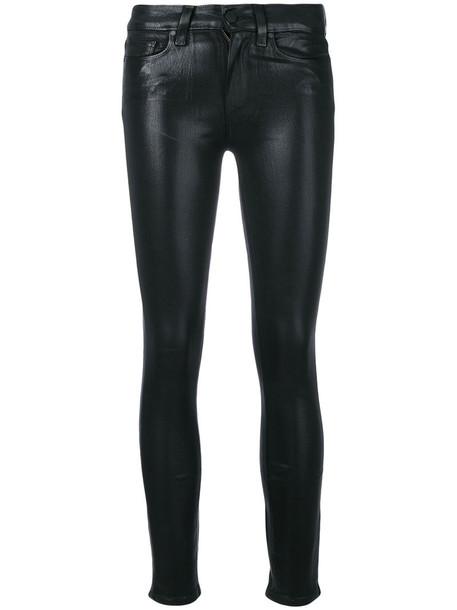 Paige cropped women spandex cotton black pants