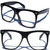 Oversize Cool Wayfarer Retro Glasses Clear Lens Black Frame Hipster Nerd Smart | eBay