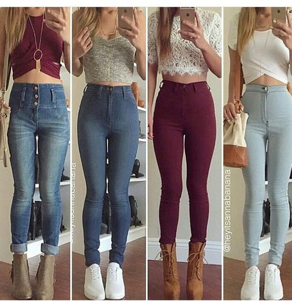 Cute club outfits with jeans