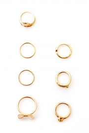 Charming 7pcs band ring set
