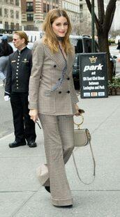 pants,blazer,olivia palermo,blogger