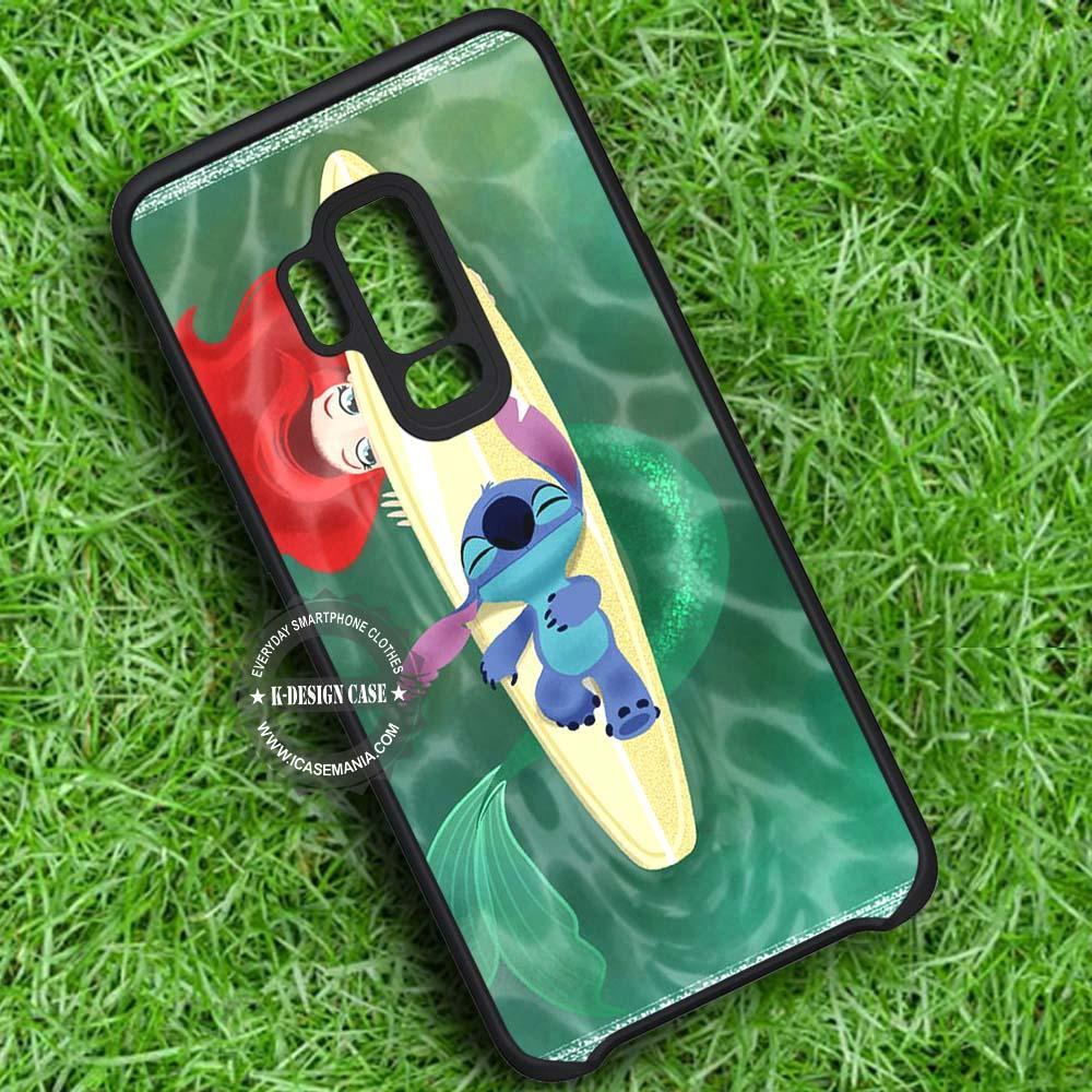 Peeking Stitch Ariel Little Mermaid iPhone X 8 7 Plus 6s Cases Samsung Galaxy S9 S8 Plus S7 edge NOTE 8 Covers #SamsungS9 #iphoneX