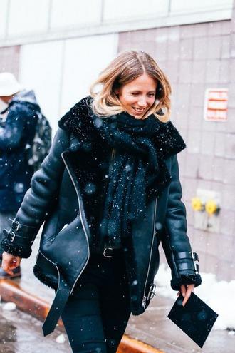 coat black winter coat