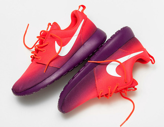 shoes color ways nike nike running shoes roshe runs nike roshe run roshes crimson grape purple shoes summer sneakers nikes neon bright sneakers