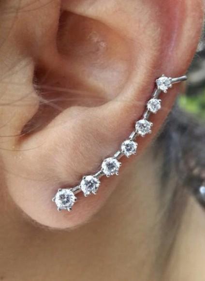 jewels earrings ear cuff swarovski