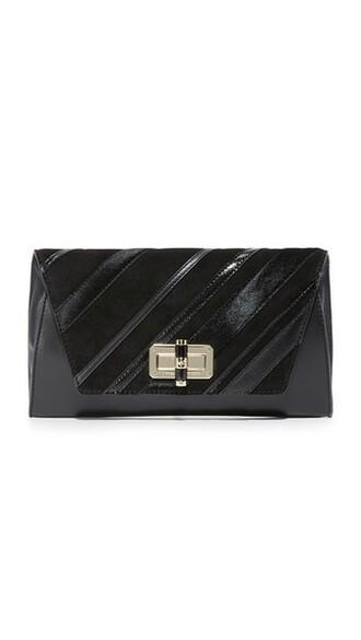 patchwork clutch black bag