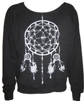sweater,crewneck,etsy,tumblr,dreamcatcher,cute,sweater weather,charcoal,black