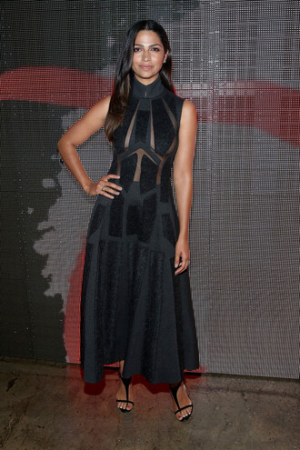 black dress fashion week 2014 camila alves