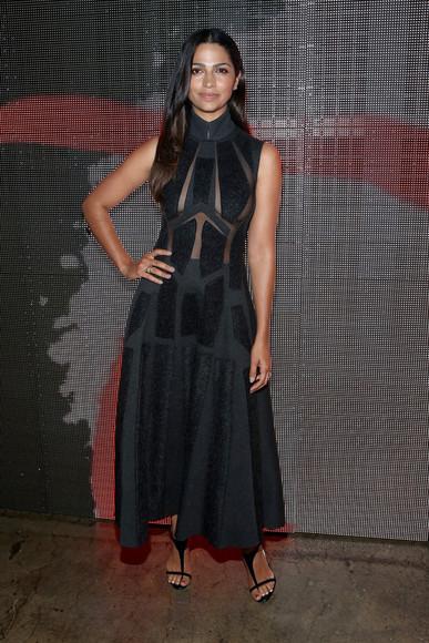 camila alves dress black fashion week 2014
