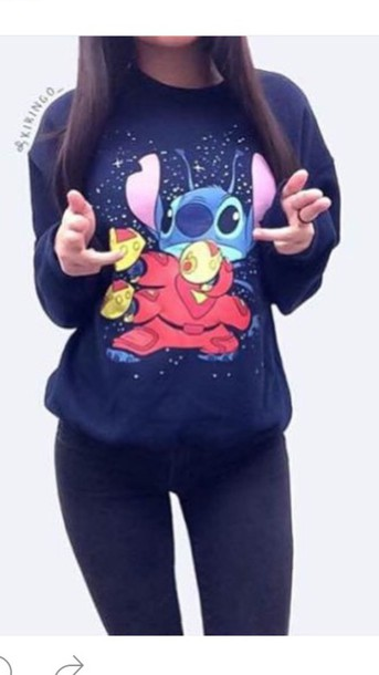 acba05b40453 sweater, navy, funny, blue, winter outfits, cute, childish, family ...