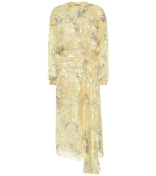 Preen by Thornton Bregazzi Doreen floral midi dress in yellow