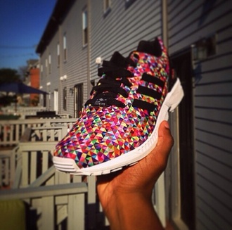 shoes adidas rainbow running shoes awesome!