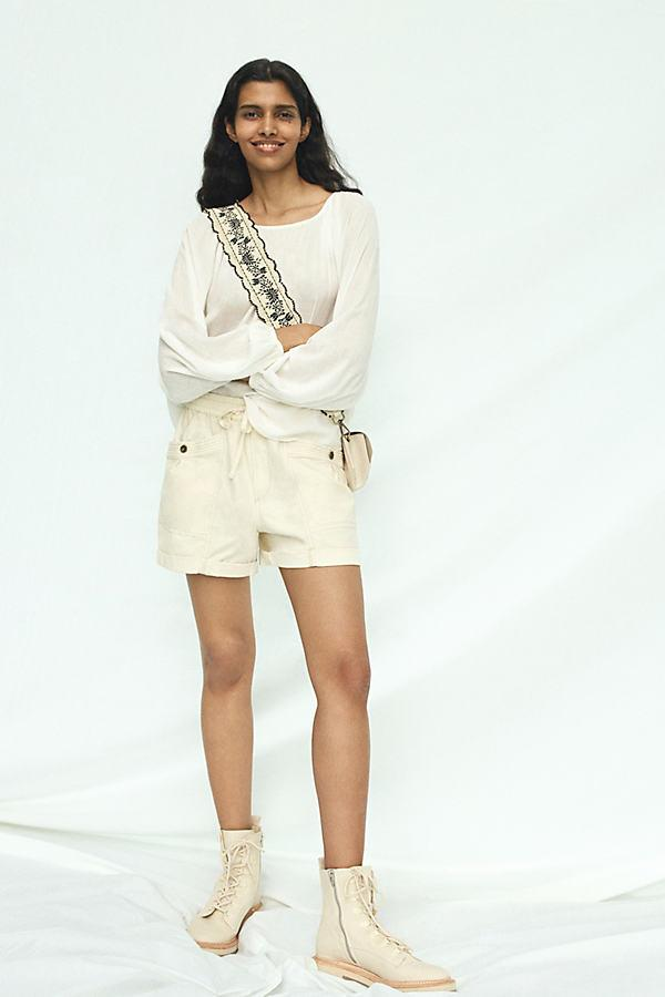 Amaya Utility Shorts By Anthropologie in White
