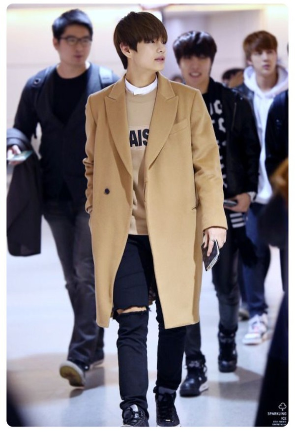Coat Sweater Fall Outfits Bts Bangtan Boys Style Kstyle Kpop Pullover Beige Winter ...