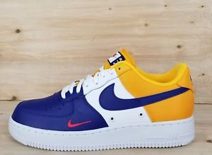 new arrivals newest collection buy good NIKE AIR FORCE 1 07 LV8 LAKERS SNEAKERS DEEP ROYAL BLUE ...