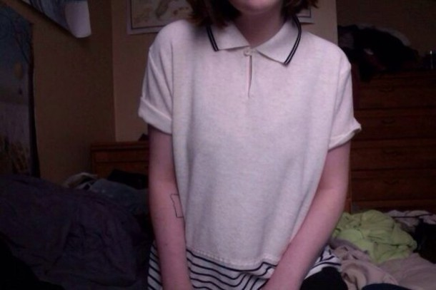 shirt white polo shirt