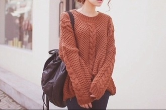 sweater fall sweater oversized sweater knitted sweater