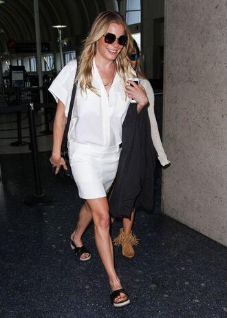 dress white white dress shirt dress leann rimes