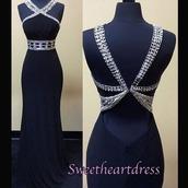 dress,prom,halter neck,top,slim dress,open back,backless,black dress,dark blue dress,navy dress,prom dress