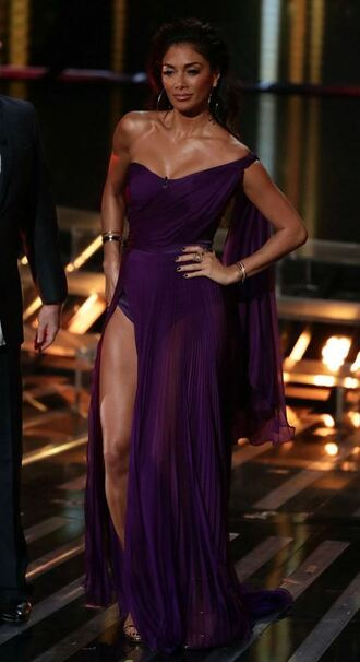 dress bustier dress bustier slit dress nicole scherzinger purple dress gown prom dress
