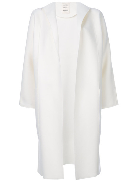 MAISON RABIH KAYROUZ coat open women white wool
