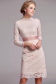 Elegant 3/4 sleeves lace dress