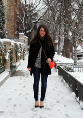 sequins & stripes,t-shirt,coat,shoes,jewels,bag