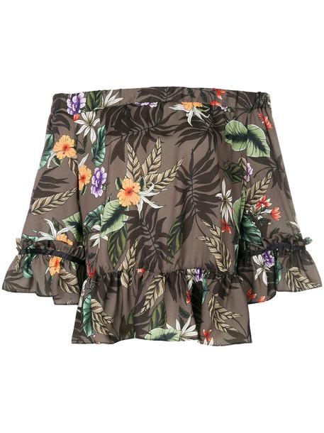 LIU JO blouse women green top