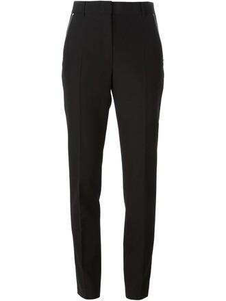 zip women fit black wool pants