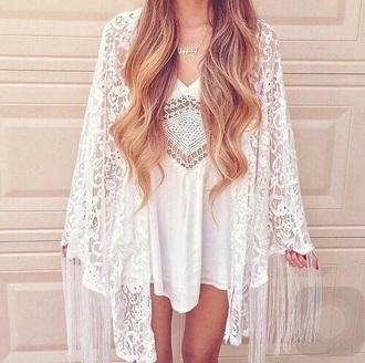 dress white cardigan