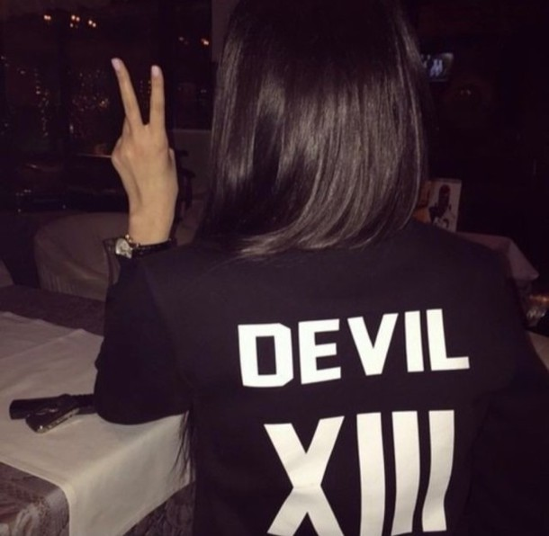 jacket devil black and white black xiii fashion girly ghetto coat shirt hair white nails sweater