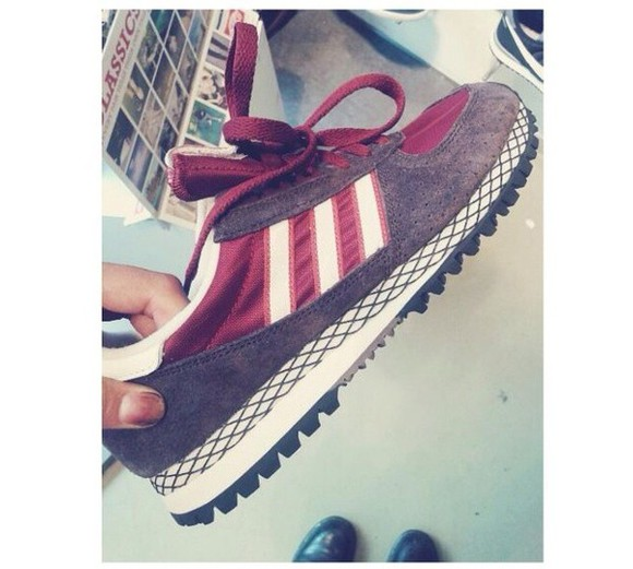 shoes bordeaux whatisthename adidas name mewants sneakers nice cool black&bordeaux