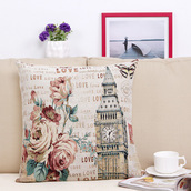 home accessory,pillow,print,comfy,home decor,boho,quote on it,big ben,hipster,flowers,mothers day gift idea,valentines day gift idea,soft ghetto,bedroom,cute,vintage