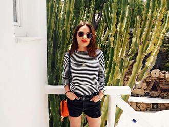the little magpie blogger shoes sunglasses shorts bag