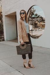 eatpraywearlove,blogger,jacket,bag,shoes,zara,blazer,sandals,spring outfits
