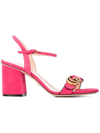 women sandals leather suede purple pink shoes