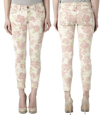 pink flowers floral pants forever 21