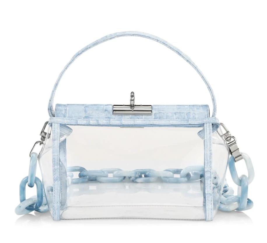 GU_DE Water Leather-Trimmed PVC Crossbody Bag