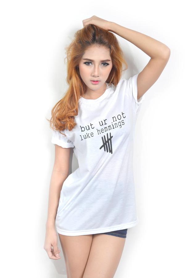 8a42db51e23 t-shirt new tip but ur not luke hemmings women tops women tshirts luke  hemmings.